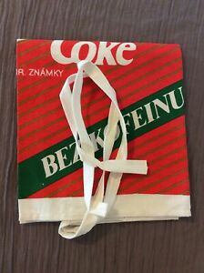 Vintage Coca Cola Apron From Germany BEZ KOFEINU  Near Mint RARE Collectible