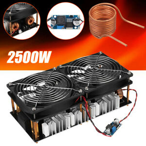 Zvs Induction Heating Board Module 2500w Driver Heater Tesla Coil Dual Fan