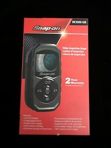 Snap On Tools Bk3000 Gm Video Inspection Scope Black In Box With Manuals