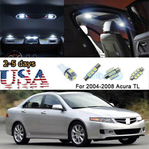 10x White 6000k Led Interior Lights Package Kit For 2004 2008 2005 Acura Tsx Us