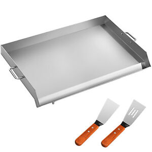 32 X 17 Stainless Steel Griddle Flat Top Grill Grilling Outdoor Heavy Duty