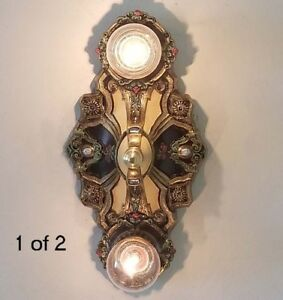 496b Vintage 10 S 20 S Antique Ceiling Light Fixture Poly Chrome Sconce
