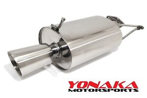 Yonaka 06 08 Eclipse Stainless Steel 2 5 Performance Muffler Axleback V6 3 8l