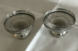 Sterling Silver Reticulated Sherbet Dish Candle Holder Watson Set Of 2