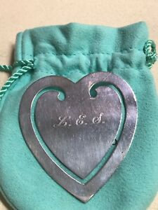 Tiffany Co Sterling Silver Bookmark