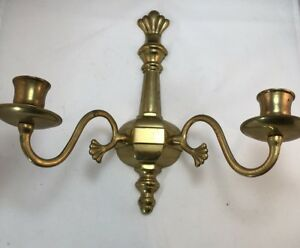 Brass Decorative Wall Candle Sconce Preowned