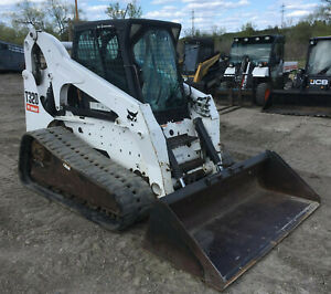 2008 Bobcat T320 Skid Steer Track Loader Erops Heat ac Dirt Bucket