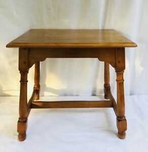 Vintage Rock Maple Side Table Accent Table End Table