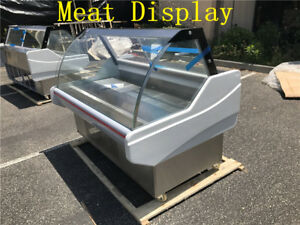 X 2 Supermarket Refrigerated Seafood Case Fish Deli Meat Display Showcase