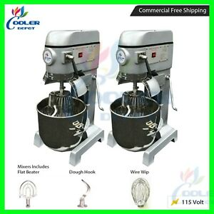 X 2 30 Qt Gear Driven Commercial Planetary Stand Mixer With Guard 110v