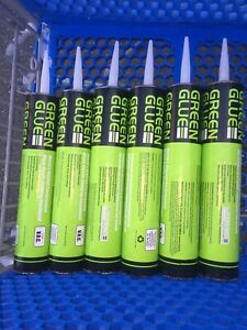 Green Glue Noiseproofing And Damping Compound lot Of 6 Tubes 28 Fl oz 828ml
