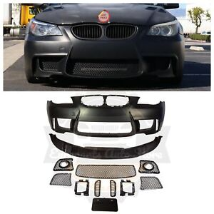 2004 09 Bmw E60 1m Style Front Bumper For Fog Lights Fog Light Delete Versions