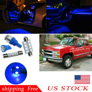 Map Dome Blue Car Led Interior Lights For 1988 98 Chevy Silverado Gmc Sierra Us