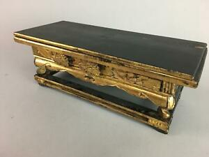 Japanese Buddhist Altar Fitting Wooden Lacquer Ware Offering Table Kyozukue B651
