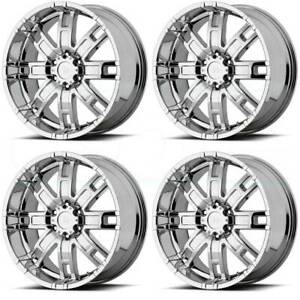 4 New 17 Helo He835 Wheels 17x8 6x5 5 6x139 7 0 Chrome Rims