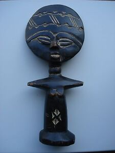 Original Antique African Wood Carved Fertility Statue