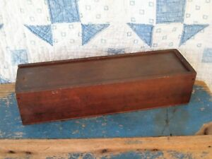 Early Antique Wood Candle Box Square Nails