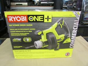 New Ryobi Drain Auger 18 volt Lithium ion Cordless Rear Drain Port tool Only