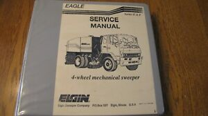 Elgin Eagle E F Street Sweeper Service And Parts Manual Nice Condition