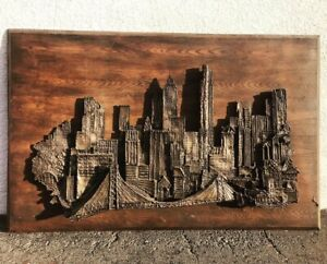 Mid Century Brutalist Metal Wall Sculpture Art Finesse Original Witco