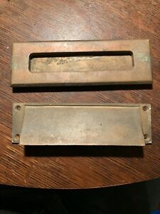 3 Available Russwin Mail Slot Cast Bronze Postal Arts Crafts Era Hardware