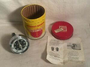 Stewart Warner Portable Hand Rotary Speed Tachometer 757 W New In Can Box Nice