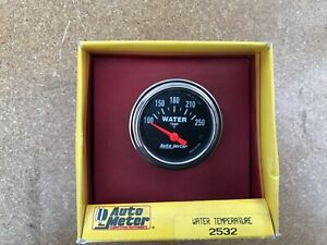 Auto Meter Gauge 2 Inch Water Temperature Black 2532