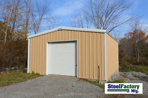 Steel Factory Mfg 24x24x10 Galvanized Steel Metal Storage Garage Building Kit