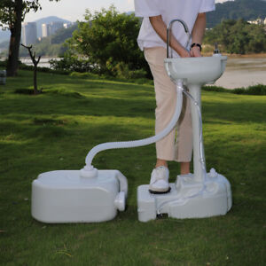 Portable Outdoor Camping Hand Washing Sink Faucet Station With 24l Recovery Tank
