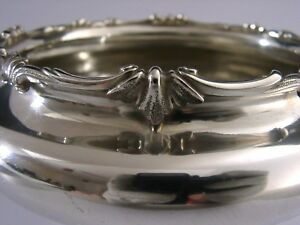 English Planished Solid Silver Bowl Arts Crafts London 1969 Heavy 325g