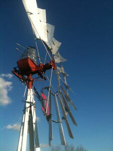 8ft Aermotor A 702 Rebuilt Windmill With New 27ft Tower