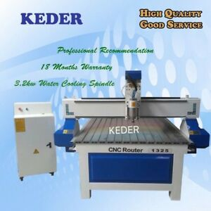Cnc Router 4 8 1325 Water Cool Spindle Woodwork Engrave Cut Furniture Machine