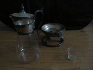 Vintage Silverplated Wm Rogers Coffee Carafe And Warmer Eagle And Star