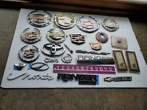 Lot Of Cadillac Emblems insignias