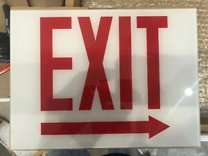 Chicago Exit Sign Glass Covers Brand New 27 Pieces