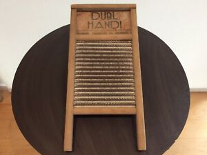 Vintage Columbus Washboard Co Dubl Handi Washboard