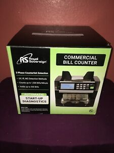 Royal Sovereign Commercial Bill Cash Counter 3 Phase Counterfeit Detection