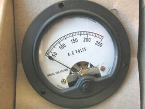 Simpson 09320 Electric Analog Panel Meter 0 250 Vac Round Series