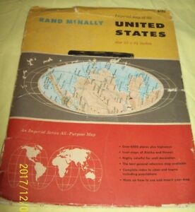 1961 Rand Mcnally Imperial Map Of The U S Wall Map Booklet 1162