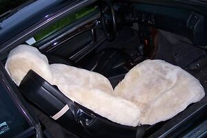 Mbz Tailormade Sheepskin Seat Covers Sl Class 129 Chassis 1 Pair Beige