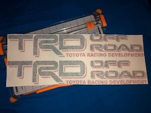 2x Tacoma Toyota Trd Truck Off Road Sport Decals Stickers Decal Vinyl 18 X3