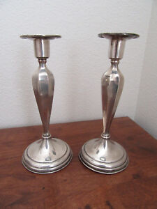 Antique Dominick Haff Sterling Silver Candlesticks