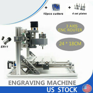 Usb 3 Axis 2418 Cnc Router Grbl Diy Desktop Milling Engraving Machine Windows10