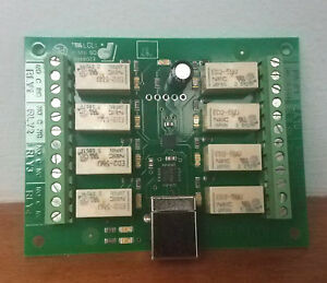 Devantech Usb rly08 8 Channel 1a Relay Board Usb Control Ac Dc Switching