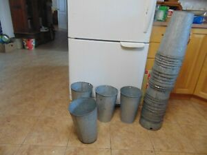 6 Maple Syrup Sap Buckets Old Galvanized Buckets Planters Flowers 6490