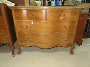 Vintage Birdseye Maple Princess Dresser With Claw Feet