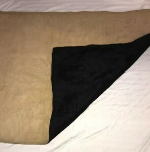 Vtg Antique Gold And Black Horse Hair Carriage Lap Blanket 58 X41 Guc