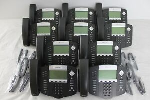 Lot Of 10 Polycom Soundpoint Ip 650 Ip650 Sip Phones