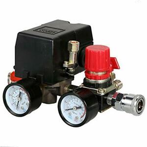 90 120psi Air Compressor Pressure Control Switch With Regulator Gauges Safety