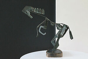 Mid Century Brutal Design Torch Cut Steel Abstract Horse Sculpture Large Wow